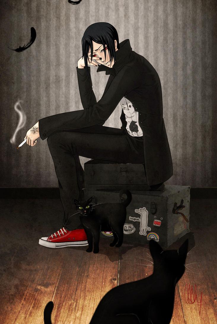 Dark crow smiles by FeuSigil