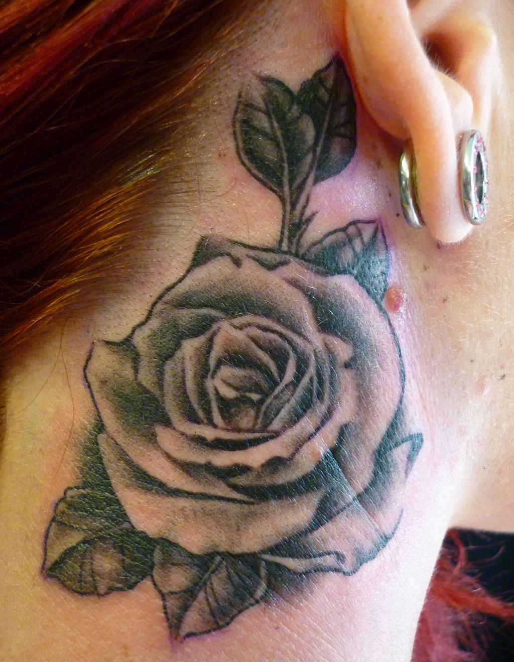 black and shade rose by blackstartattoo on deviantart