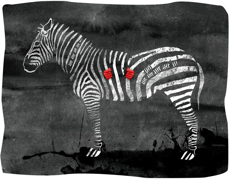 Zebra Jail by kingDemoiselle