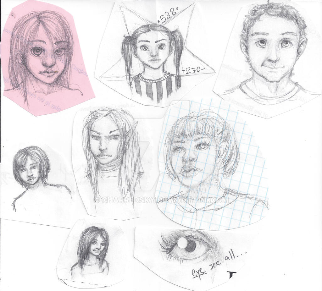 More Sketches 7.13.2014 by Charredsky