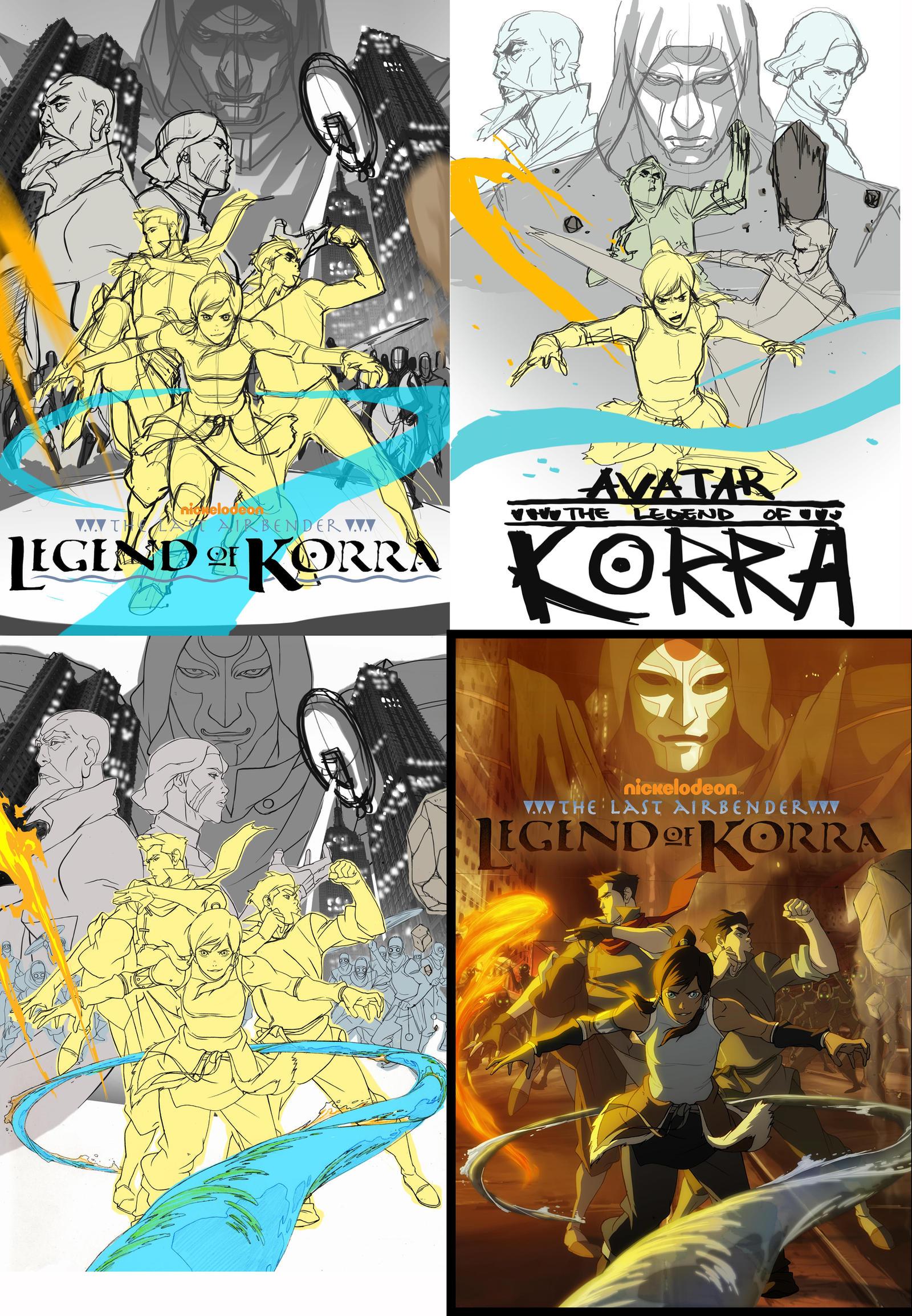 korra poster by blacksataguni