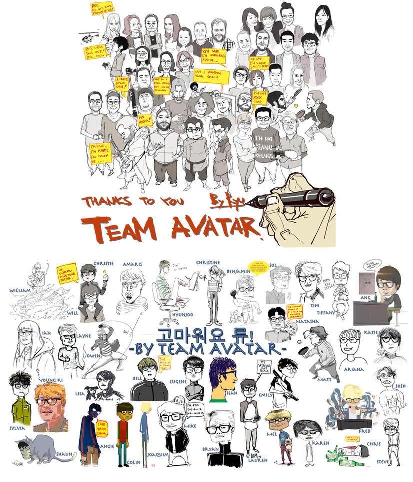 KORRA Crew caricatures by blacksataguni