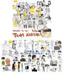 KORRA Crew caricatures