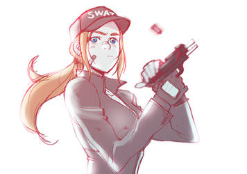 S.W.A.T girl by blacksataguni