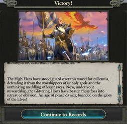 High Elves Victory text