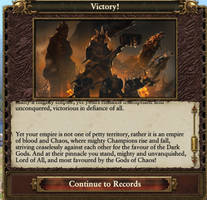 Warriors of Chaos Victory text