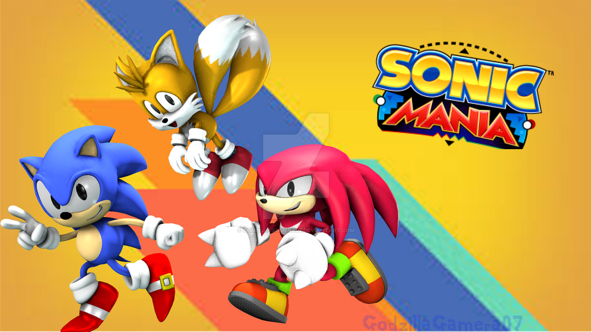 Sonic Mania Poster (4K) by GodzillaGamera07