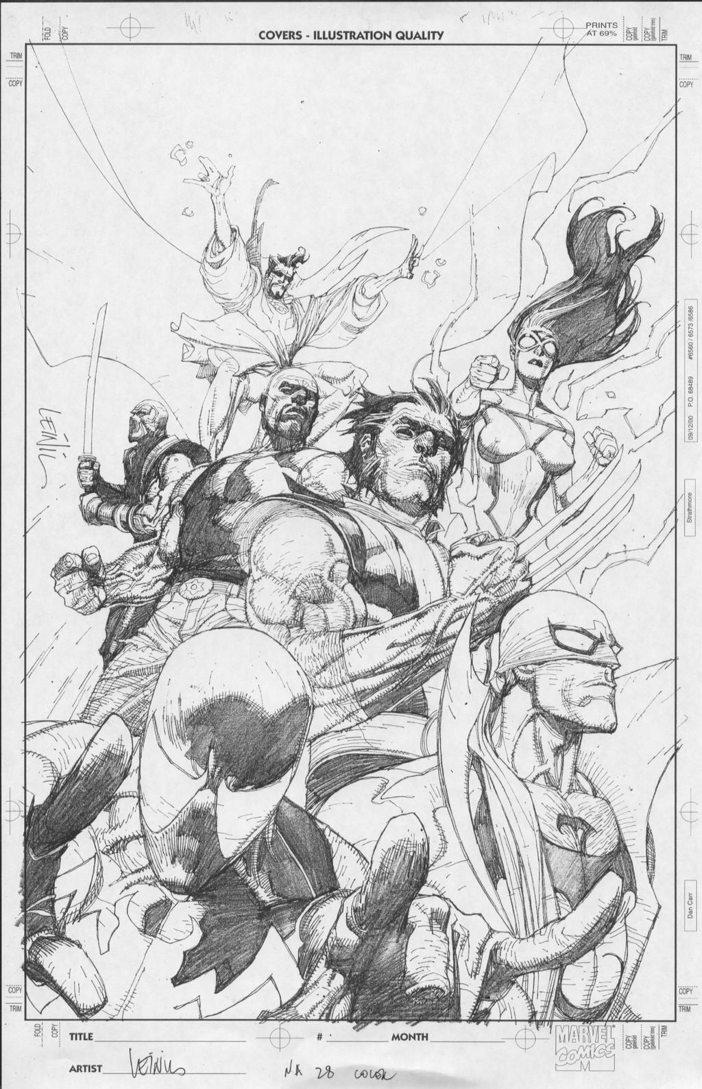 new avengers pencils by MarkMorales