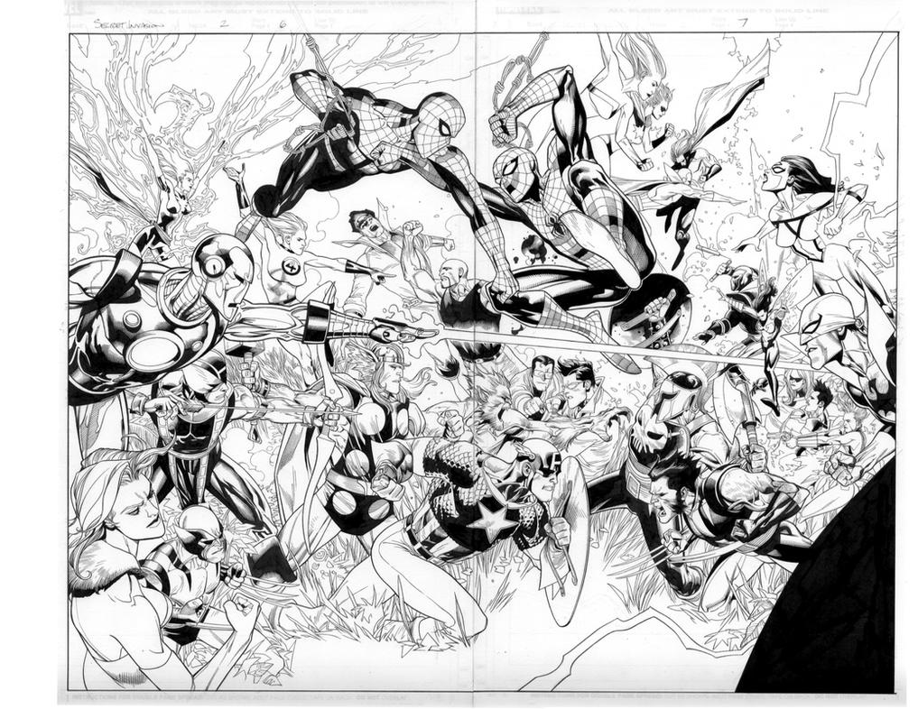 secret invasion 2 pgs 6 and 7 by MarkMorales