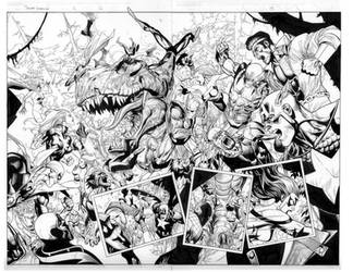 secret invasion 2 pg 12 and 13 by MarkMorales