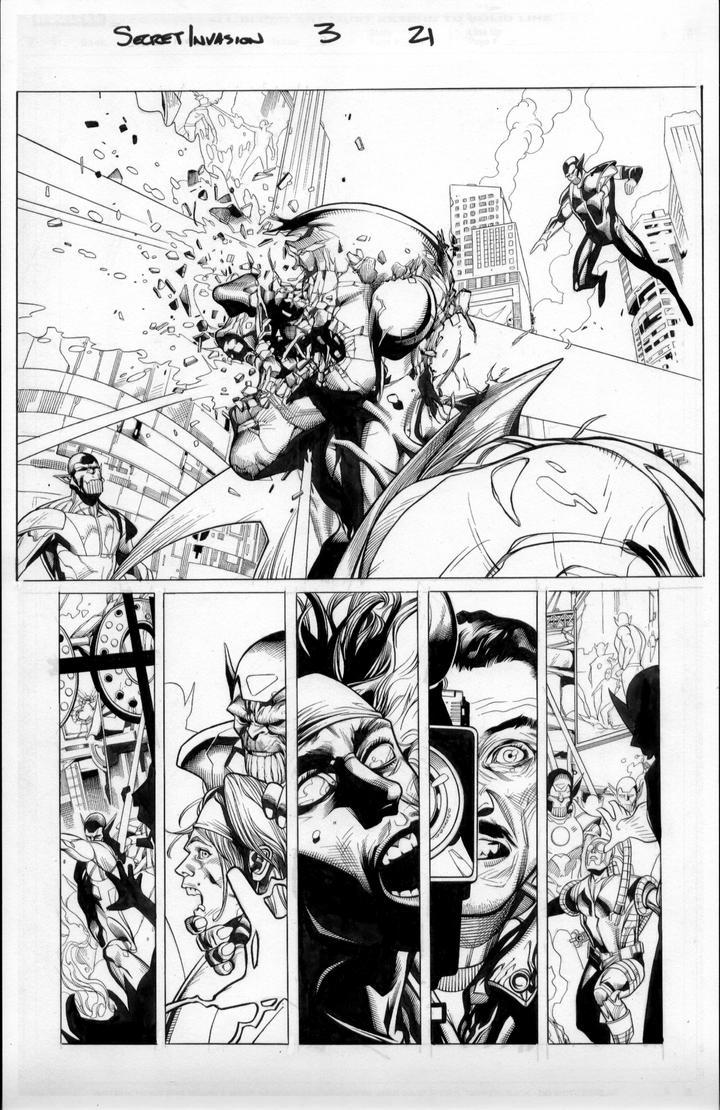 secret invasion 3 pg 21 by MarkMorales
