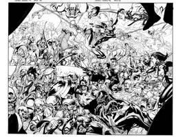 secret invasion pgs 22-23 by MarkMorales