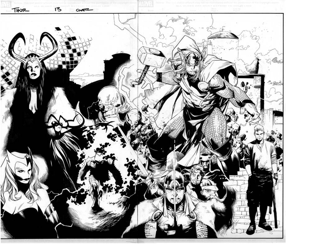 thor 600 cover by MarkMorales