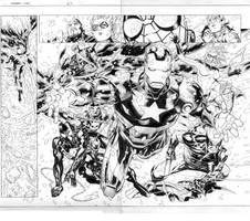 new avengers fcbd pages 8-9 by MarkMorales