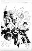 x-men 1 variant cover by MarkMorales