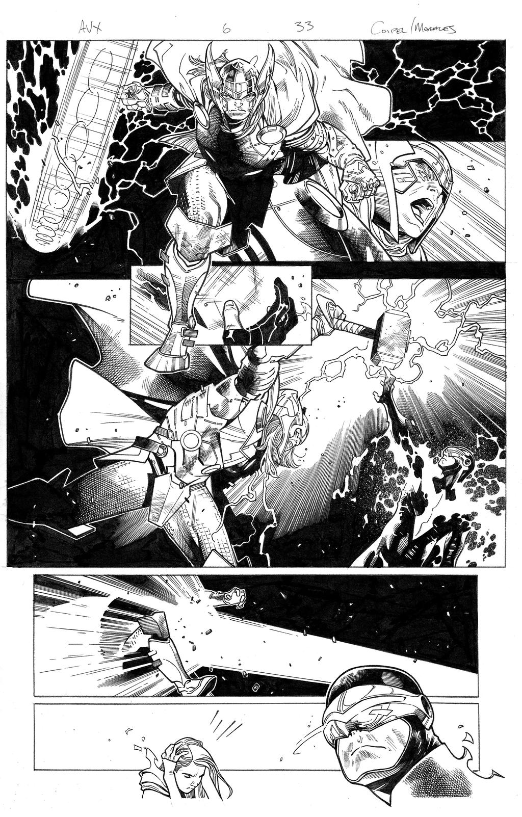 avengers vs x-men 6 pg 33 by MarkMorales