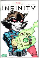Rocket Raccoon sketch cover
