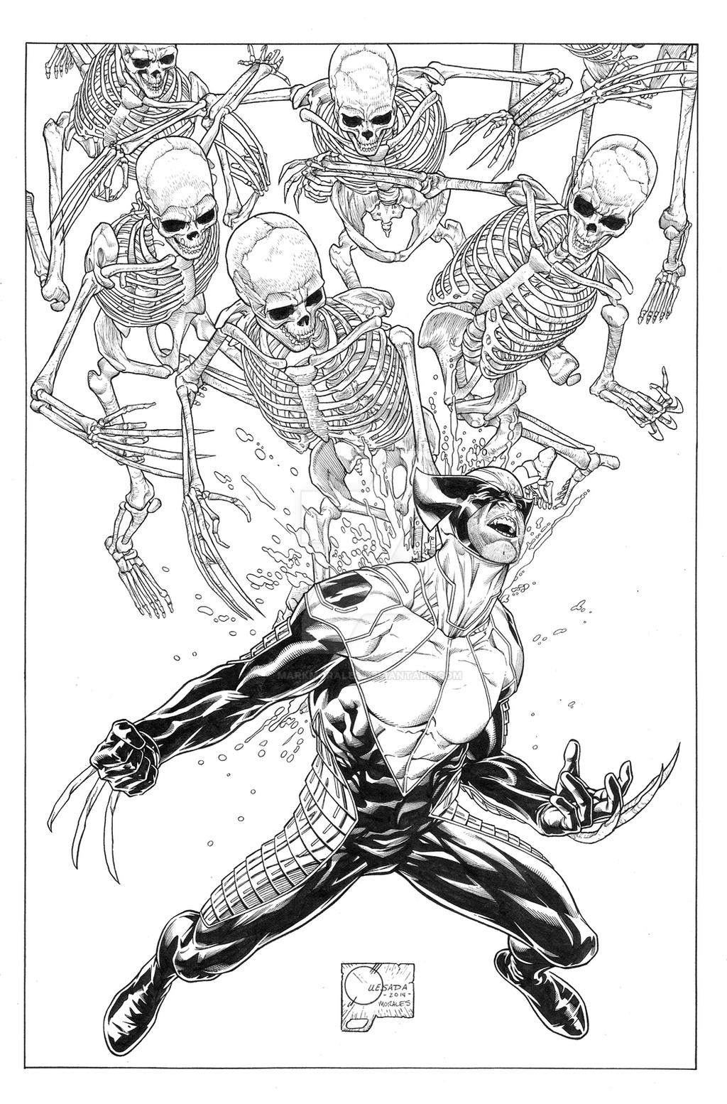 Death of Wolverine #1 Variant Cover by MarkMorales