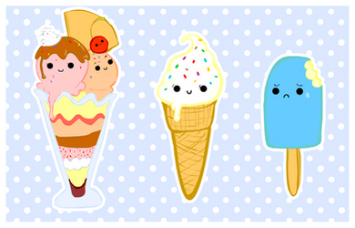 cute foods - frozen selection