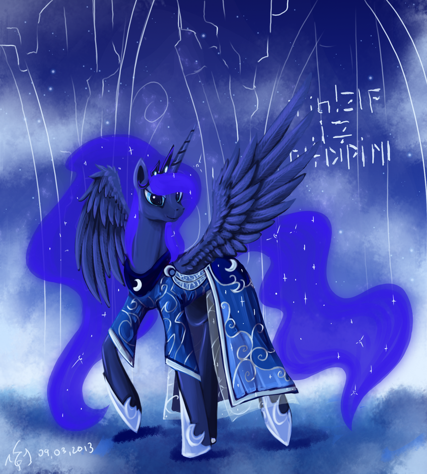 Princess Luna dress by Dalagar