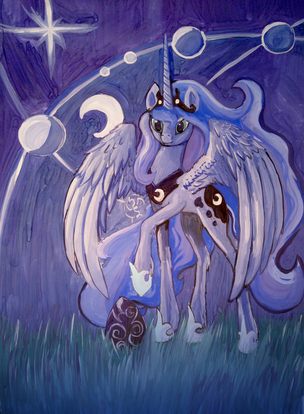 Princess Luna portrait A2 by Dalagar
