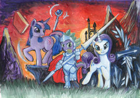 For the Equestria! by Dalagar
