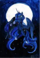 Princess Luna A4 by Dalagar