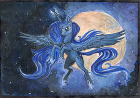 Princess Luna A4 by Dalagar