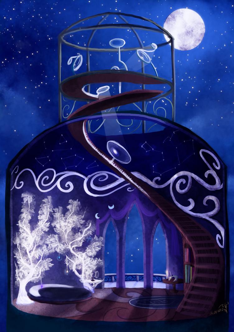 Luna Tower-room concept by Dalagar