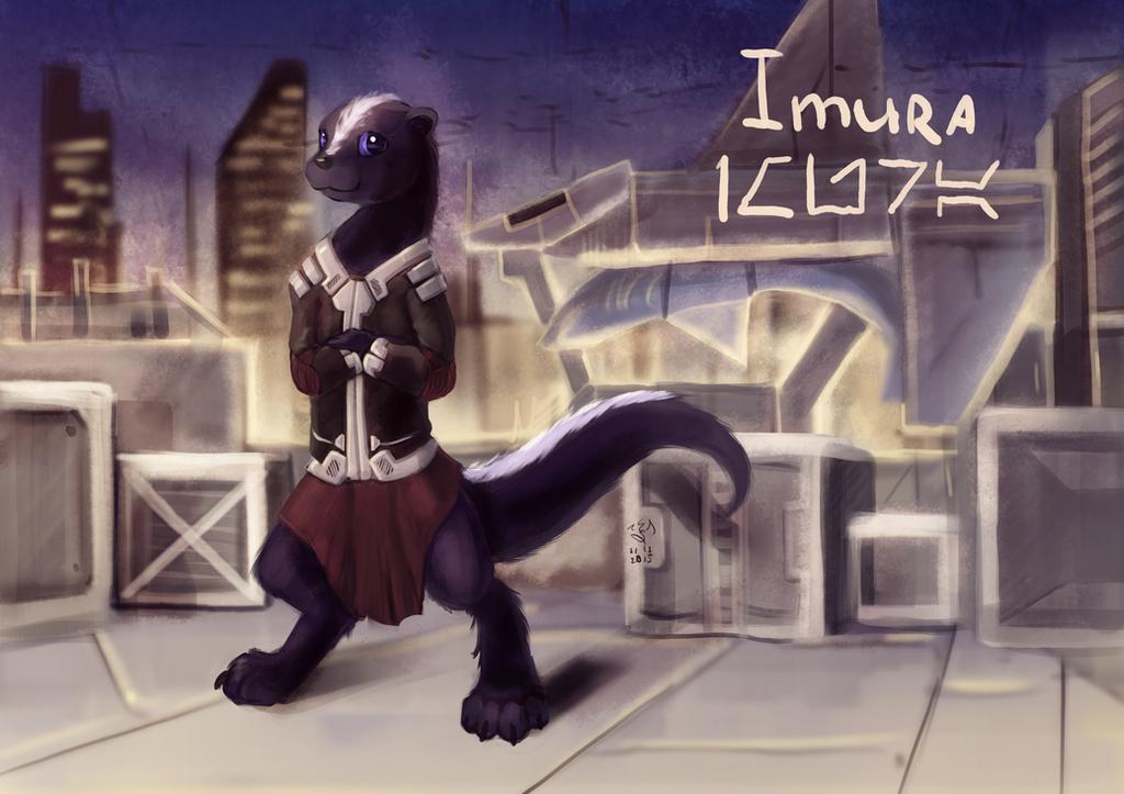 Imura (and spaceshark) by Dalagar