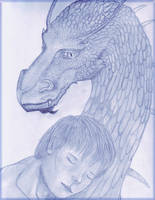 Eragon and Saphira by TheFlyingHeart