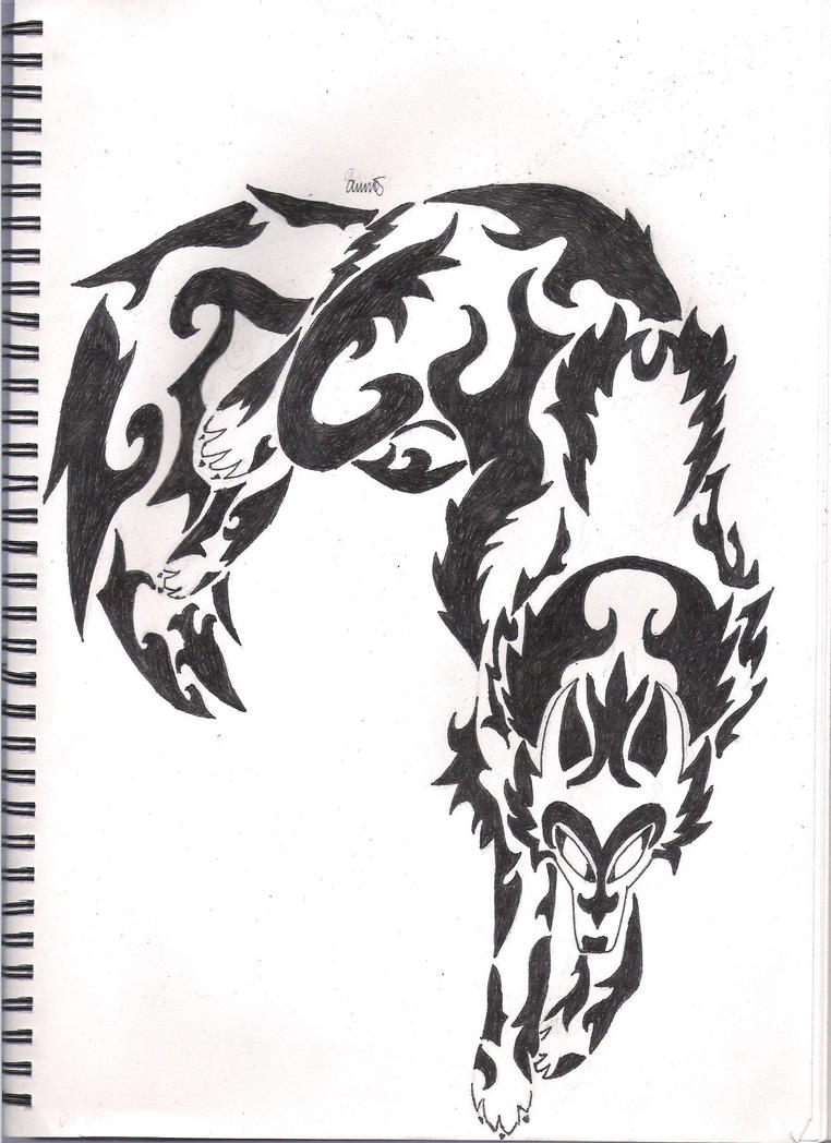 Tribal Wolf by TwilitExodias