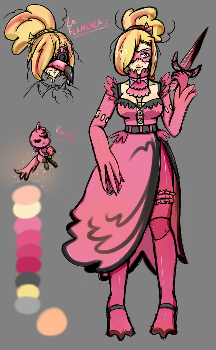 La Flamenca Reference Sketch by MegumiPan616