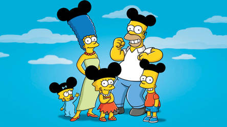 The Simpsons with Mickey Mouse's ears by Arthony70100