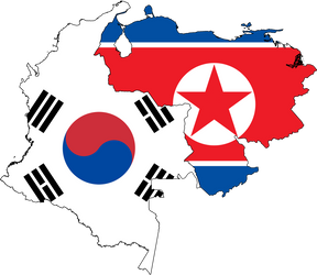Colombia and Venezuela as the 2 Koreas by Arthony70100