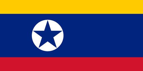 Flag of North Korea with Venezuela's flag colors by Arthony70100