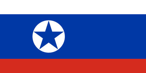 Flag of North Korea with Russia's flag colors by Arthony70100