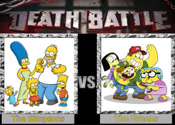 Death Battle: The Simpsons vs. The Greens by Arthony70100