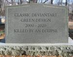 Classic DeviantArt Green Design's grave
