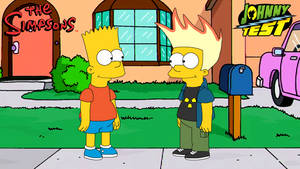 Bart Simpson meets Johnny Test (Simpsons style)