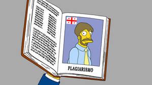 Georgian Plagiarism (Simpsons style)