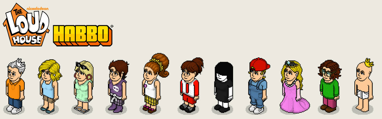 The Loud House in Habbo style