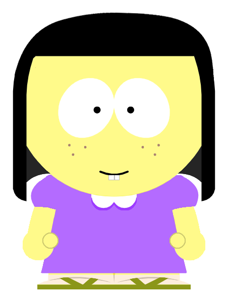Tilly Green in South Park style