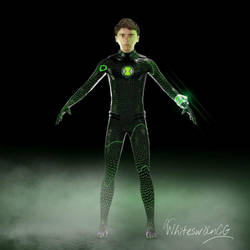 A 3d version of ben in a nanotech  suit