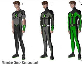 Ben in a nanotech suit