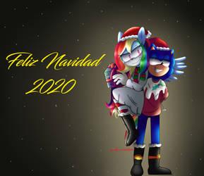 Feliz Navidad Les Desea Sondash by Gabibonnie12345