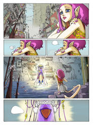 Sky Doll Colored page by me by RGDopico