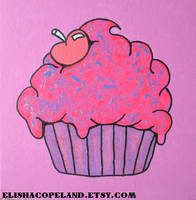 Sparkle Sweet Cupcake Painting