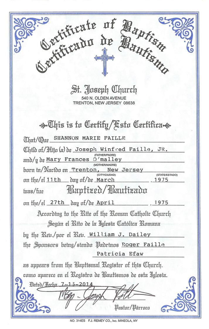 Lujo Certificado De Nacimiento Jersey Trenton Embellecimiento ...