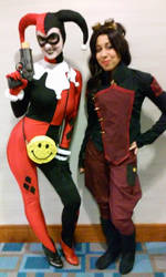 Magic City Comic Con - Harley and Asami by Wicked--Wonderland